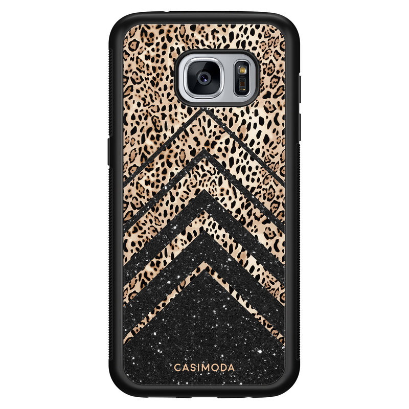 Casimoda Samsung Galaxy S7 hoesje - Chevron luipaard