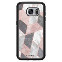 Casimoda Samsung Galaxy S7 hoesje - Stone grid