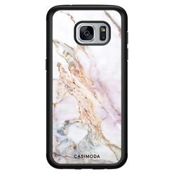 Casimoda Samsung Galaxy S7 hoesje - Parelmoer marmer