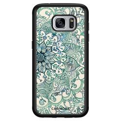 Casimoda Samsung Galaxy S7 hoesje - Mandala blauw