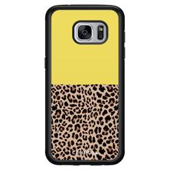 Casimoda Samsung Galaxy S7 hoesje - Luipaard geel