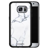 Casimoda Samsung Galaxy S7 hoesje - Marmer grijs