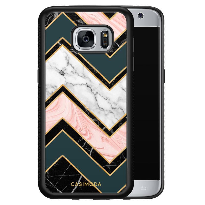 Casimoda Samsung Galaxy S7 hoesje - Marmer triangles