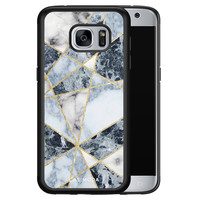 Casimoda Samsung Galaxy S7 hoesje - Abstract marmer blauw