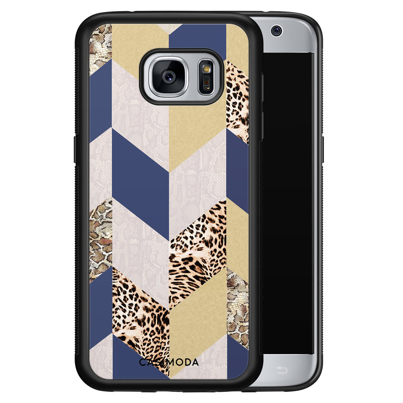 Casimoda Samsung Galaxy S7 hoesje - Blue leo wild