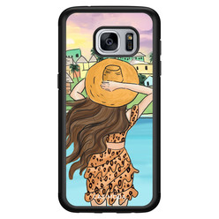 Casimoda Samsung Galaxy S7 hoesje - Sunset girl