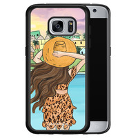 Casimoda Samsung Galaxy S7 hoesje - Sunset girl