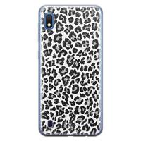 Casimoda Samsung Galaxy A10 siliconen telefoonhoesje - Luipaard grijs