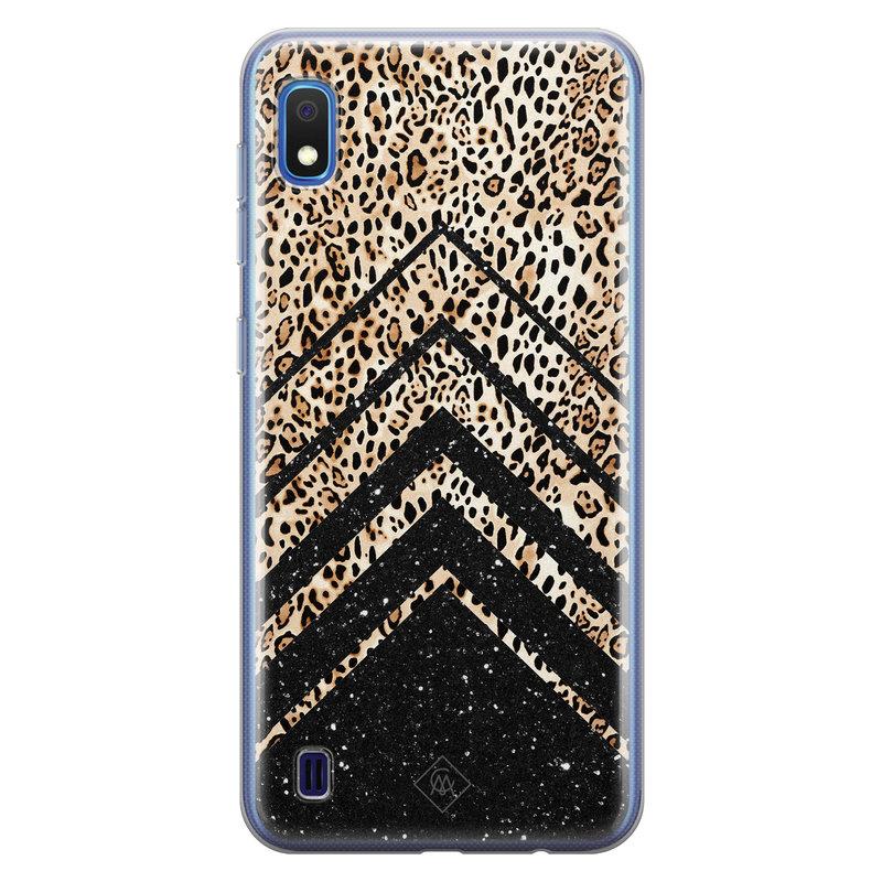 Casimoda Samsung Galaxy A10 siliconen hoesje - Chevron luipaard