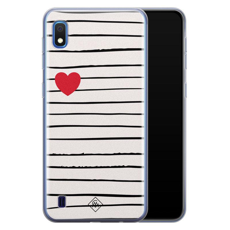 Casimoda Samsung Galaxy A10 siliconen hoesje - Heart queen