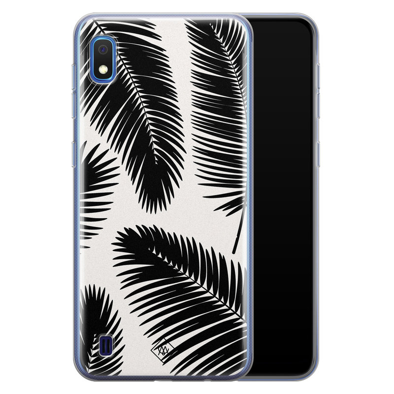 Casimoda Samsung Galaxy A10 siliconen telefoonhoesje - Palm leaves silhouette