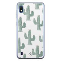 Casimoda Samsung Galaxy A10 siliconen telefoonhoesje - Cactus print