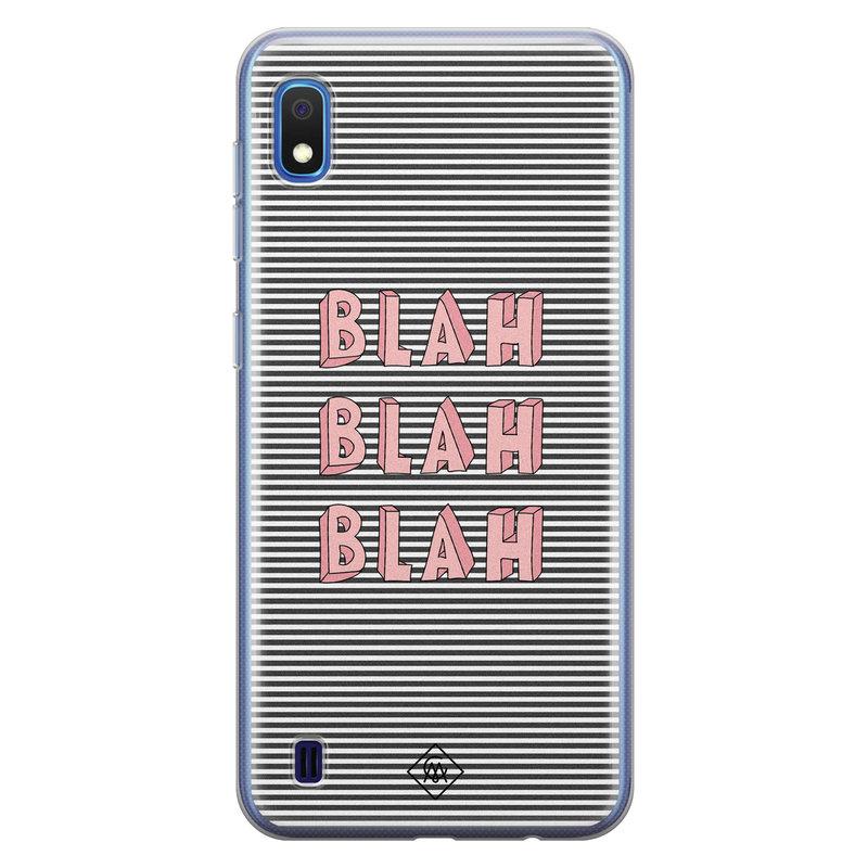 Casimoda Samsung Galaxy A10 siliconen telefoonhoesje - Blah blah blah