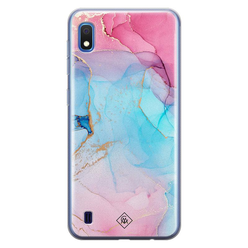 Casimoda Samsung Galaxy A10 siliconen hoesje - Marble colorbomb