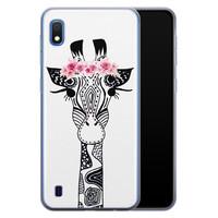 Casimoda Samsung Galaxy A10 siliconen telefoonhoesje - Giraffe