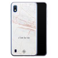 Casimoda Samsung Galaxy A10 siliconen telefoonhoesje - C'est la vie