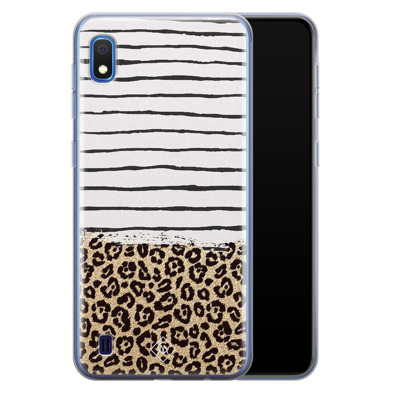 Casimoda Samsung Galaxy A10 siliconen telefoonhoesje - Leopard lines