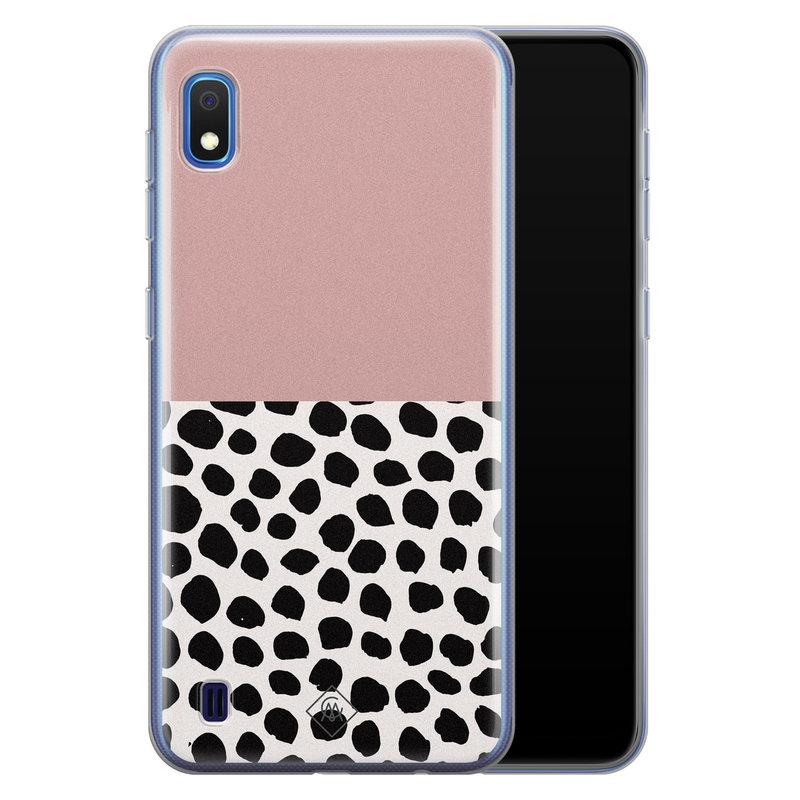 Casimoda Samsung Galaxy A10 siliconen hoesje - Pink dots