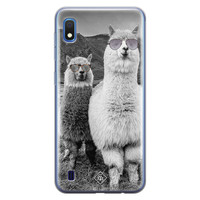 Casimoda Samsung Galaxy A10 siliconen telefoonhoesje - Llama hipster