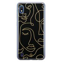 Casimoda Samsung Galaxy A10 siliconen hoesje - Abstract faces