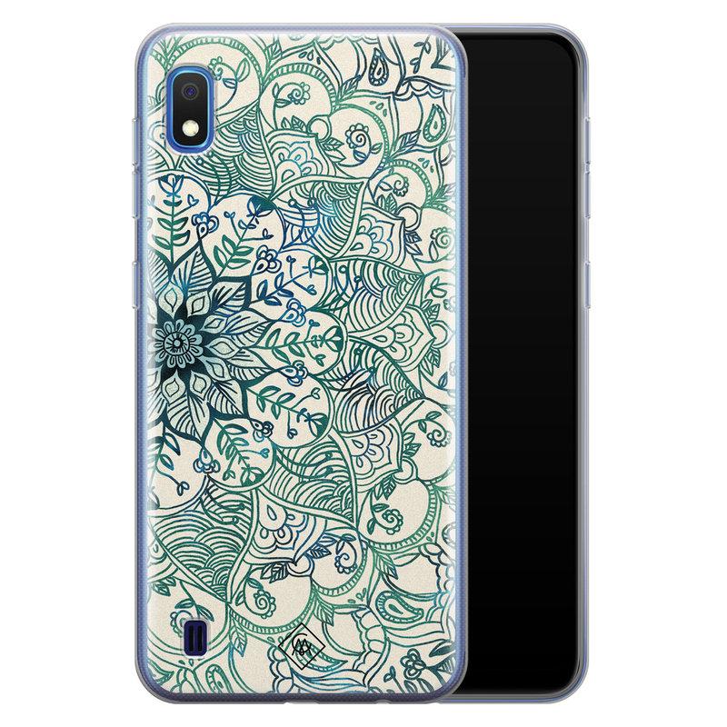 Casimoda Samsung Galaxy A10 siliconen hoesje - Mandala blauw