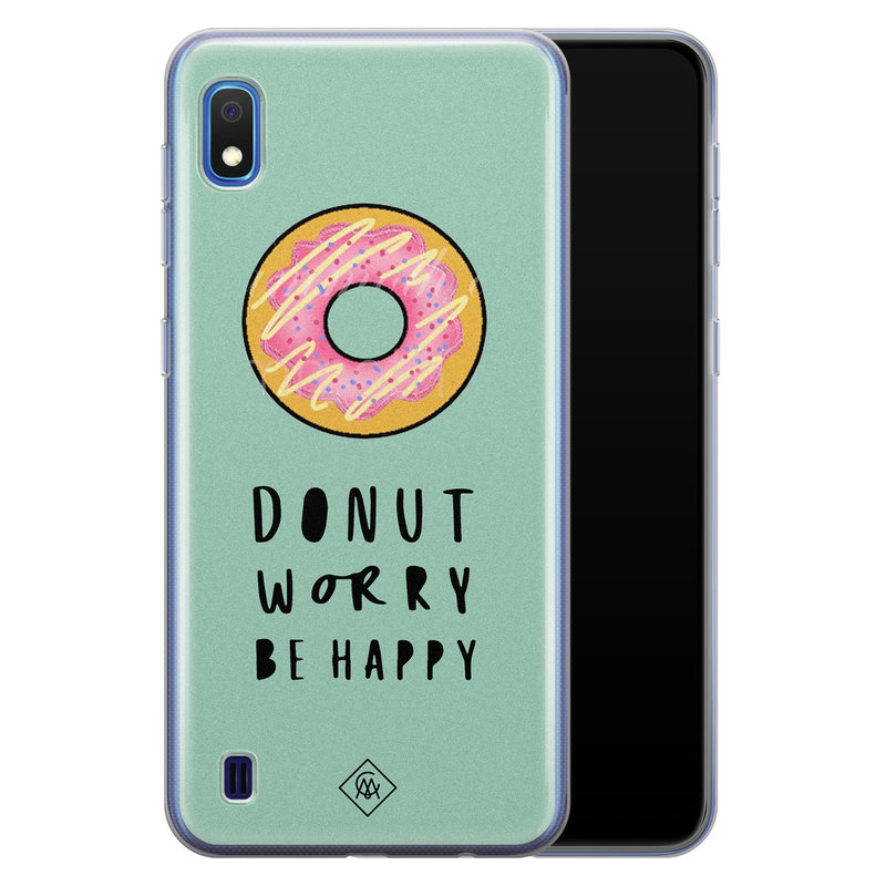 Casimoda Samsung Galaxy A10 siliconen hoesje - Donut worry