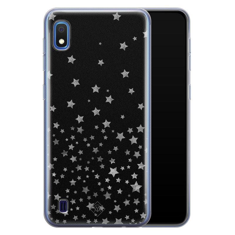 Casimoda Samsung Galaxy A10 siliconen hoesje - Falling stars
