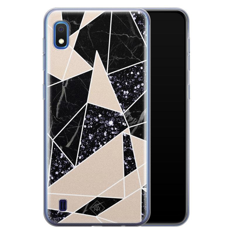 Casimoda Samsung Galaxy A10 siliconen telefoonhoesje - Abstract painted