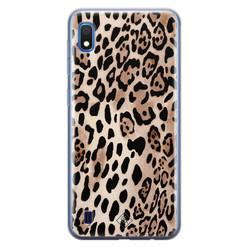Casimoda Samsung Galaxy A10 siliconen hoesje - Golden wildcat