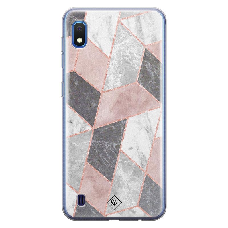 Casimoda Samsung Galaxy A10 siliconen telefoonhoesje - Stone grid