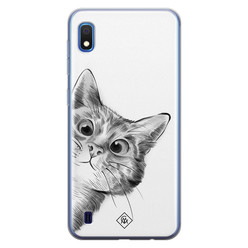 Casimoda Samsung Galaxy A10 siliconen hoesje - Peekaboo