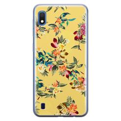 Casimoda Samsung Galaxy A10 siliconen hoesje - Floral days
