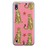 Casimoda Samsung Galaxy A10 siliconen hoesje - The pink leopard