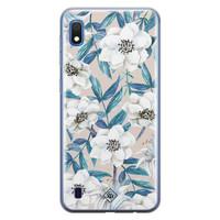 Casimoda Samsung Galaxy A10 siliconen telefoonhoesje - Touch of flowers