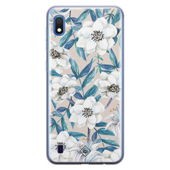 Casimoda Samsung Galaxy A10 siliconen hoesje - Touch of flowers