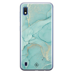 Casimoda Samsung Galaxy A10 siliconen hoesje - Touch of mint