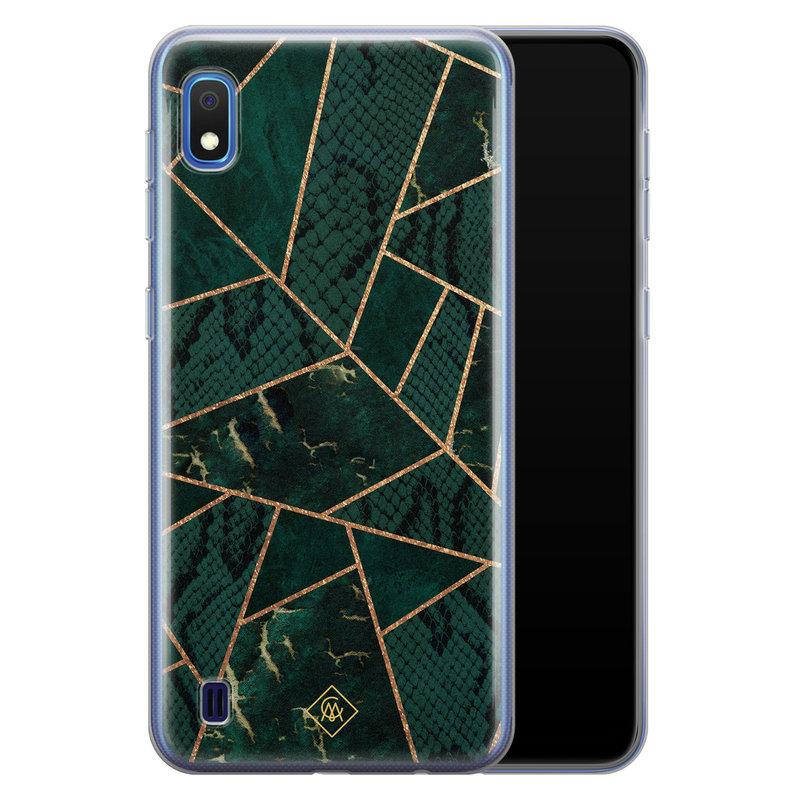Casimoda Samsung Galaxy A10 siliconen hoesje - Abstract groen