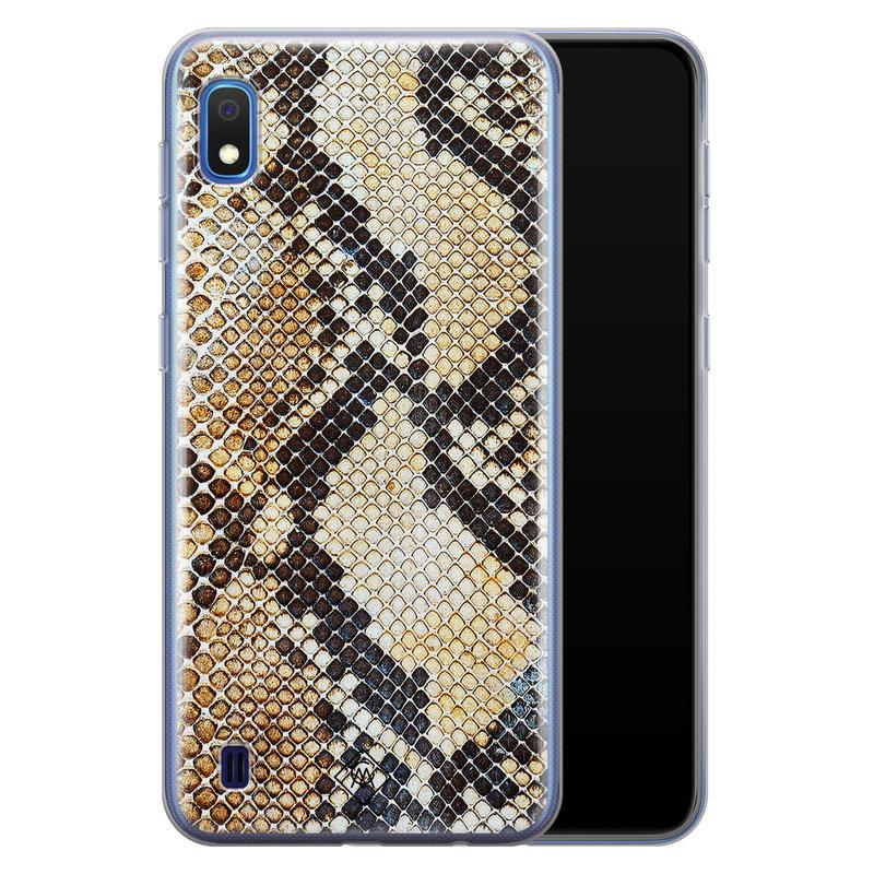 Casimoda Samsung Galaxy A10 siliconen hoesje - Golden snake