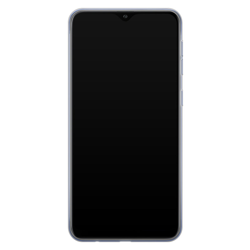 Casimoda Samsung Galaxy A10 siliconen hoesje - Marmer blauw