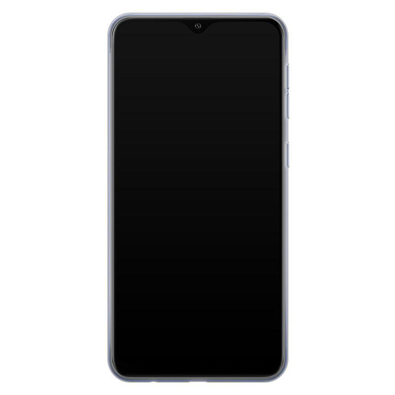 Casimoda Samsung Galaxy A10 siliconen telefoonhoesje - Parelmoer marmer