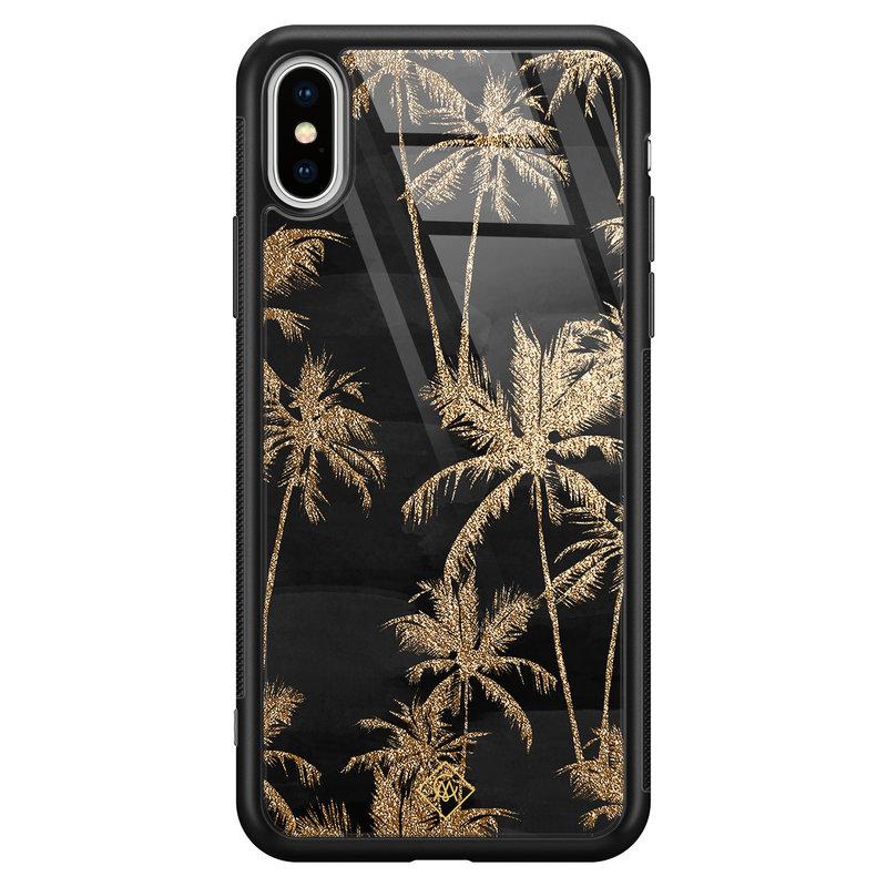 Casimoda iPhone XS Max glazen hardcase - Palmbomen