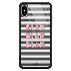 Casimoda iPhone XS Max glazen hardcase - Blah blah blah