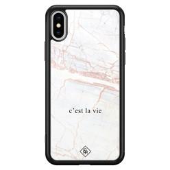 Casimoda iPhone XS Max glazen hardcase - C'est la vie