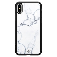 Casimoda iPhone XS Max glazen hardcase - Marmer grijs