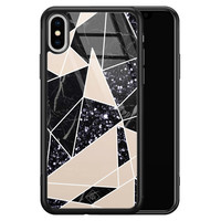 Casimoda iPhone XS Max glazen hardcase - Abstract painted