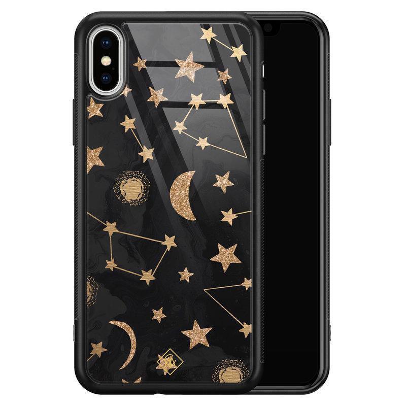 Casimoda iPhone XS Max glazen hardcase - Counting the stars