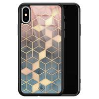 Casimoda iPhone XS Max glazen hardcase - Cubes art