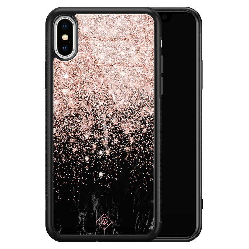 Casimoda iPhone XS Max glazen hardcase - Marmer twist