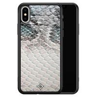 Casimoda iPhone XS Max glazen hardcase - Oh my snake