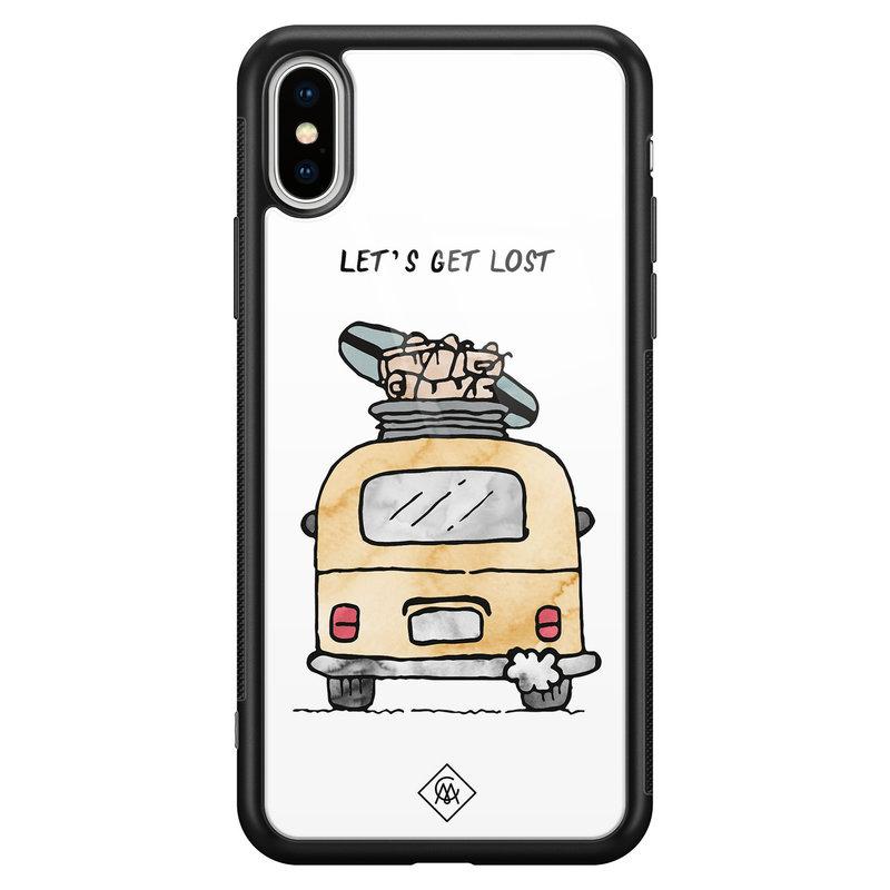 Casimoda iPhone XS Max glazen hardcase - Let's get lost